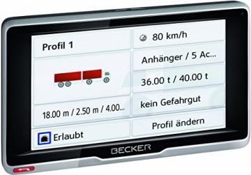 Becker Professional.6 Fahrzeugprofile