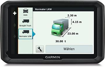 Garmin dezl 770 lmt d LKW NAvi Abmessungen des Fahrzeuges