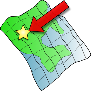 Karte beim GPS Gerät