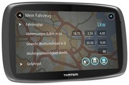 tomTom Trucker 6000 Menü und Fahrzeugabmessung